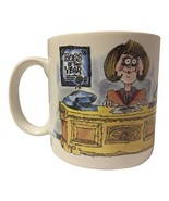 """Russ Berrie Big Eyed Woman at Desk """"Boss of the Year"""" Coffee Mug Cup - $19.98"""