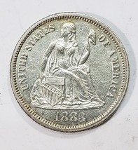 1883 Silver Seated Liberty Dime 10¢ Lot # MZ 4819