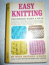 Easy Knitting Children's Size 4 to 14 Pocket Books 1965 - $4.99