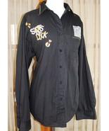 CASINO Gambling Slots Money Bags - Womens Shirt Top - Size XL - Black Bu... - $98.98