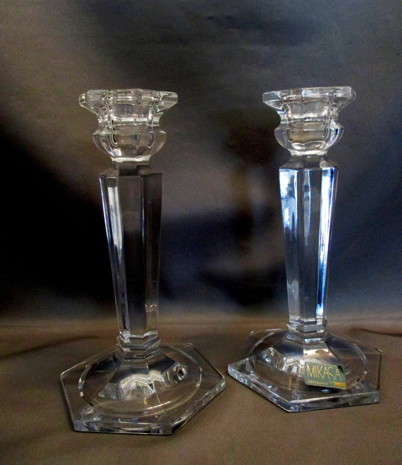 Matching Pr .Mikasa Cambridge 6.5-Inch Taper Candle Holders~Elegant