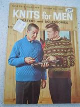 Coats & Clark's Knits for Men Book No. 134 1962 - $2.99