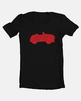 Grease Logo T shirt retro 70's 80's classic movie 100% cotton black graphic tee