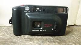 Minolta Freedom 50 35MM Camera With Belt Clip Case - $7.91