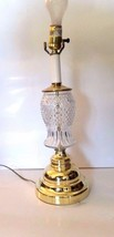 Vintage Cut Glass and Gold Metal  Lamp - $18.81