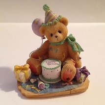 Cherished Teddies Classic Vintage B/Day Bear Figurine Collectible by Ene... - $9.04