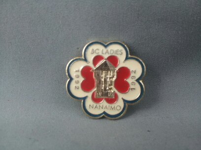 Primary image for 1992 BC Ladies Curling Championship  Pin - Nanimo BC - Scottie Design