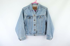 Vintage 90s Levis Womens XL Distressed Denim Jean Trucker Jacket Blue US... - $59.35