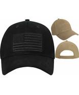 Subdued US Flag Hook Loop Low Profile Adjustable Hat Head Cap - $10.99