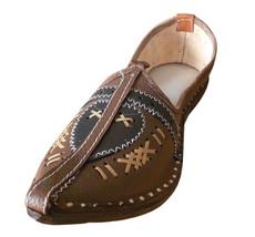 Men Shoes Indian Handmade Mojari Rajasthani Leather Espadrilles Jutties US 8 - $34.99