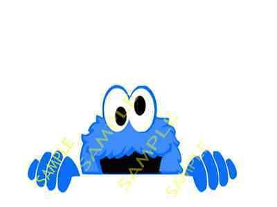 Cookie Monster Peeking Cut Desgns Silhouette Cricut  Digital Instant Download