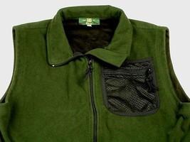 Orvis Vest Green Fleece Zip Front Pockets Men Size XL EUC - $22.76