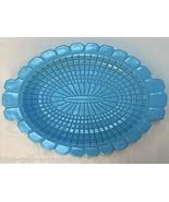 Blue Opaline Milk Glass English Hobnail Platter - $133.65