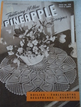 Clark's J&P Coats Pineapple Designs Crochet Booklet 1946 - $3.99