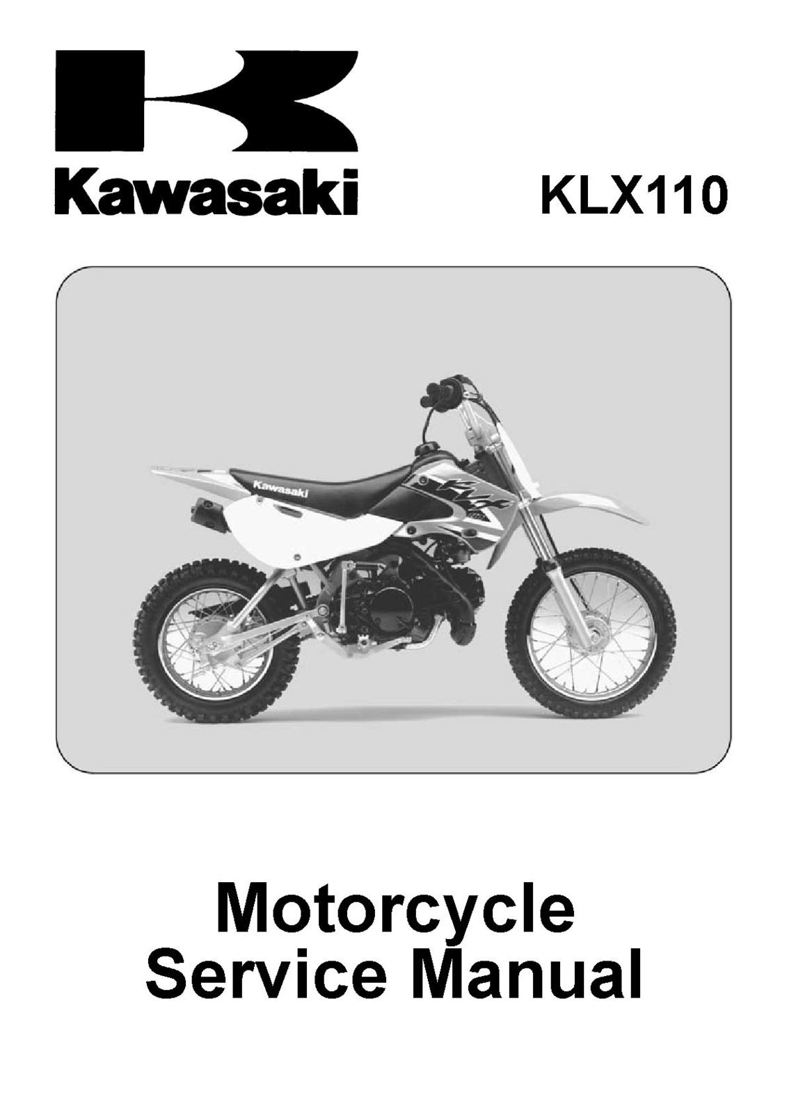 Kawasaki KLX110 KLX 110 Shop Service Repair and 44 similar items. Klx110