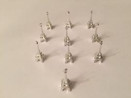 10 pcs wholesale silver plated miniature 3D paris eiffel tower pendant - $3.50