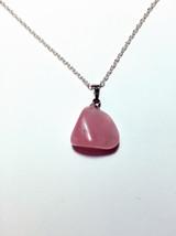 Natural Rose quartz necklace, pink crystal necklace, pink gemstone necklace - $20.00