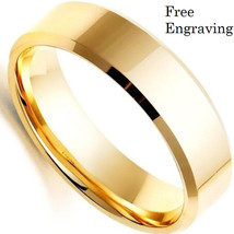 Free engraving 6mm gold tungsten ring, promise ring, tungsten band, unis... - $572,56 MXN