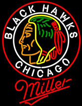 Miller Commemorative 1938 Chicago Blackhawks Neon Sign image 1