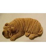 Sandicast 1987 Dog Figurine Lil' Snoozers Shar Pei Wrinkles S26 Handcrafted M... - $22.98