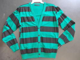 Green Black long sleeve Cardigan sweater Green long sleeve Cardigan Swea... - $23.75