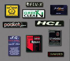 500 pcs. Custom Clothing Woven Labels - $55.00