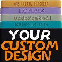 200 Custom Silicone Wristbands YOUR Color, Text & Image - $134.62