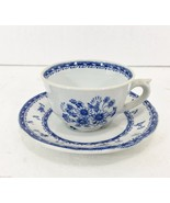Arabia Finlandia Finn Flower Blue Demitasse Espresso Cup & Saucer 2 oz F... - $28.27