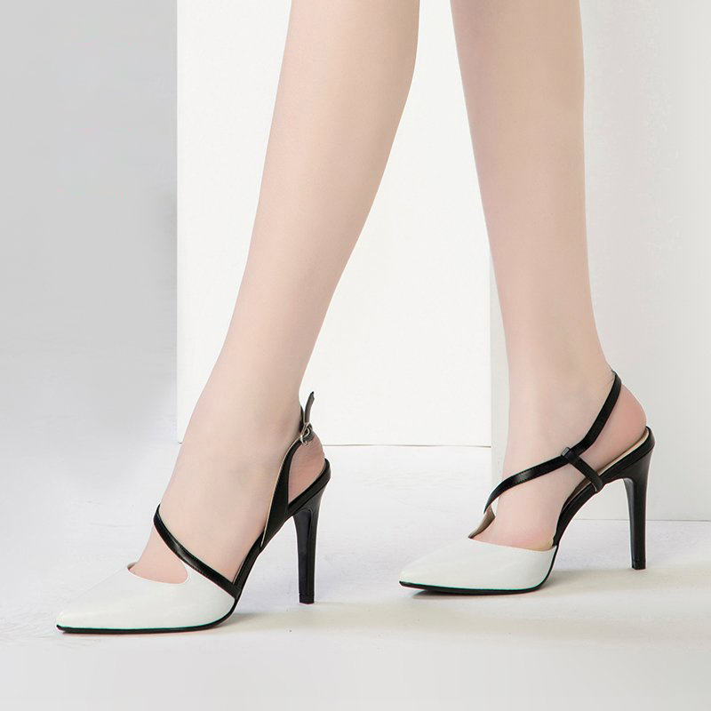 ps051 Elegant T-Type & sharp head sandals,size 34-40, white for sale  USA