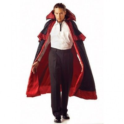 Deluxe Midnight Carnival Cape with Red satin lining
