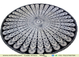 Bohemian Mandala Tapestry Roundie Hippie Table Cloth - $25.00