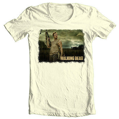 The Walking Dead Daryl T shirt zombie TV show 100% cotton graphic printed tee