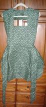Bib Apron (green fishing lures motif) Ladies Handmade Vintage Retro w ex... - $25.99