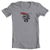 FIDO movie T shirt  film Zombie b-movie 100% cotton graphic grey tee image 2