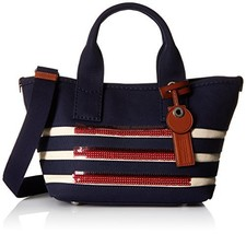 Marc by Marc Jacobs ST Tropez Small Tote Bag, New Prussian Blue/Ecru, On... - $244.53