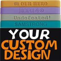 300 Custom Silicone Wristbands YOUR Color, Text & Image - $197.98