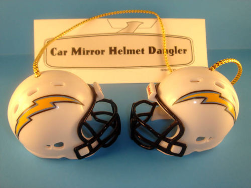 SAN DIEGO CHARGERS CAR MIRROR FOOTBALL HELMET DANGLER - HANG FROM ANYTHING!