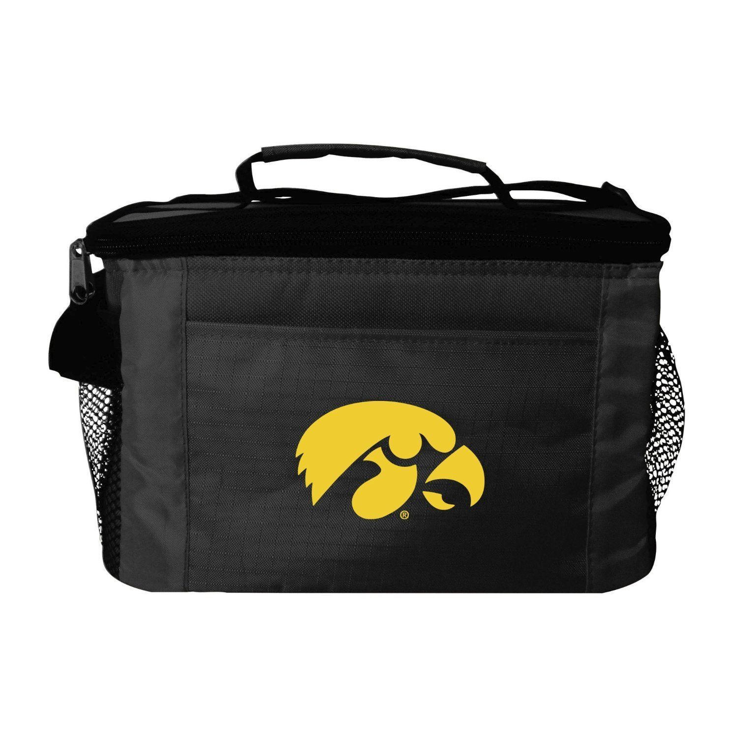 IOWA HAWKEYES LUNCH TOTE 6 PK BEER SODA TEAM LOGO KOOLER BAG NCAA