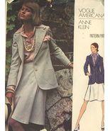 1973 Vogue 2825 Anne Klein Misses' Jacket, Skirt, Shirt and  Scarf SZ 16... - $5.50