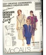 McCall's 5365 Plus Size 24 Designer Three Piece Vest Top Skirt Pattern U... - $5.50
