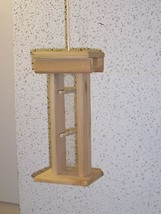 Goldfinch,Small Thistle seed feeder,(Cedar)Tall Hanging,Seed viewing - $28.99