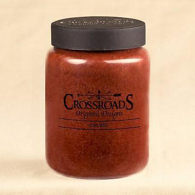 S'Mores  26 oz. Crossroads Original Designs Jar Candle w/ Lid  New