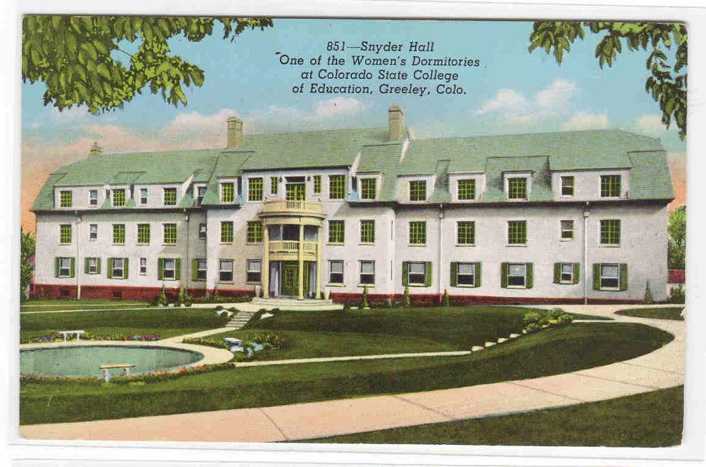 Snyder Hall University of Northern Colorado Greeley CO postcard