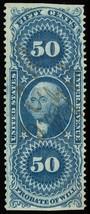 R62b, 50¢ Probate of Will Revenue Stamp - VF & Sound Cat $250.00 - Stuar... - $185.00