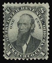 RO10a, 1¢ American Match Clevd Co. Stamp Cat $130.00 - Stuart Katz - $95.00