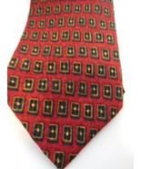 J Z Richards Nordstrom's 100% American Made Silk Tie Red Black & Gold - $9.94