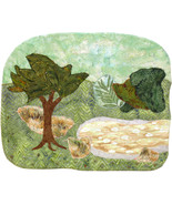 Green Landscape: Quilted Art Wall Hanging - $325.00
