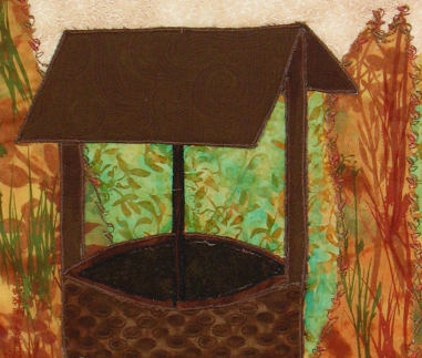 The Well: Quilted Art Wall Hanging