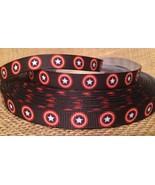 """1 Yard 3/8"""" Captain America Grosgrain Ribbon - $0.98"""