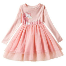 NEW Girls Unicorn Pink Long Sleeve Tutu Dress 3T 4T 5T 6 7 - $16.99